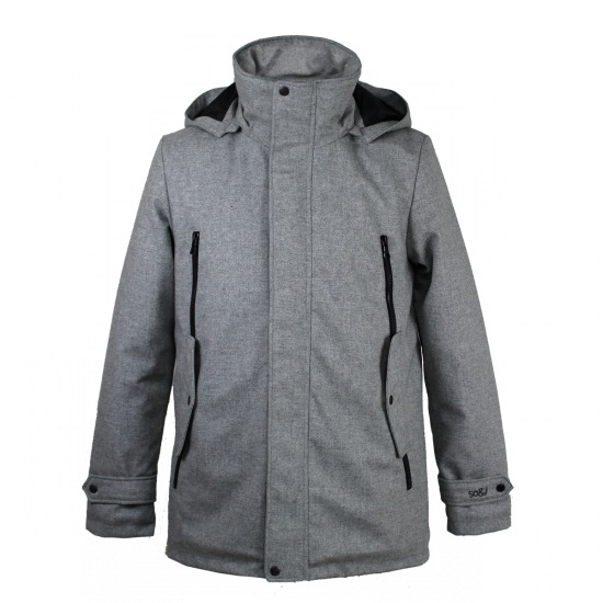 Homme And J So Corentin Gris Parka Manteau 45RCqwac